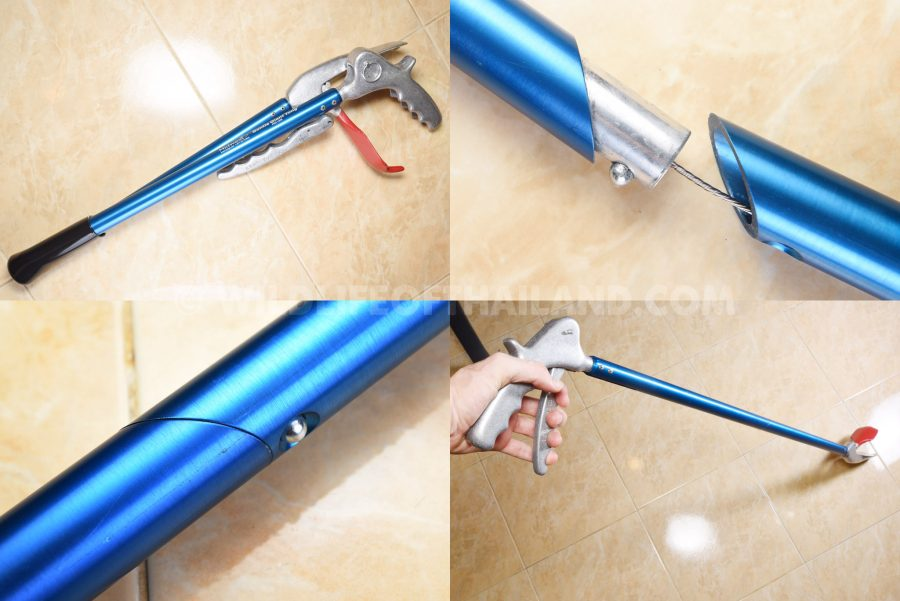 The collapsible tongs
